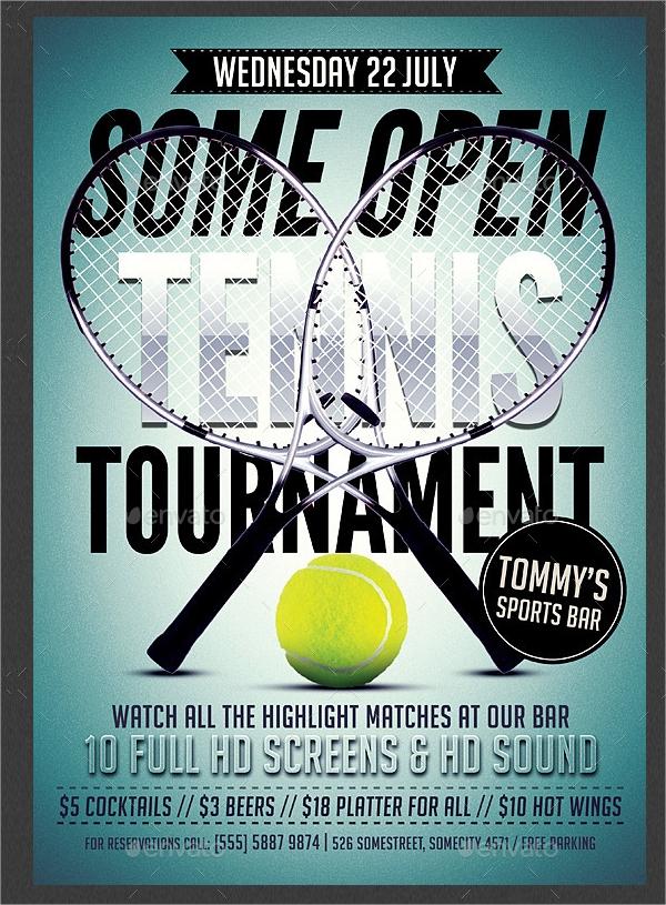 Tennis Flyer Template Free