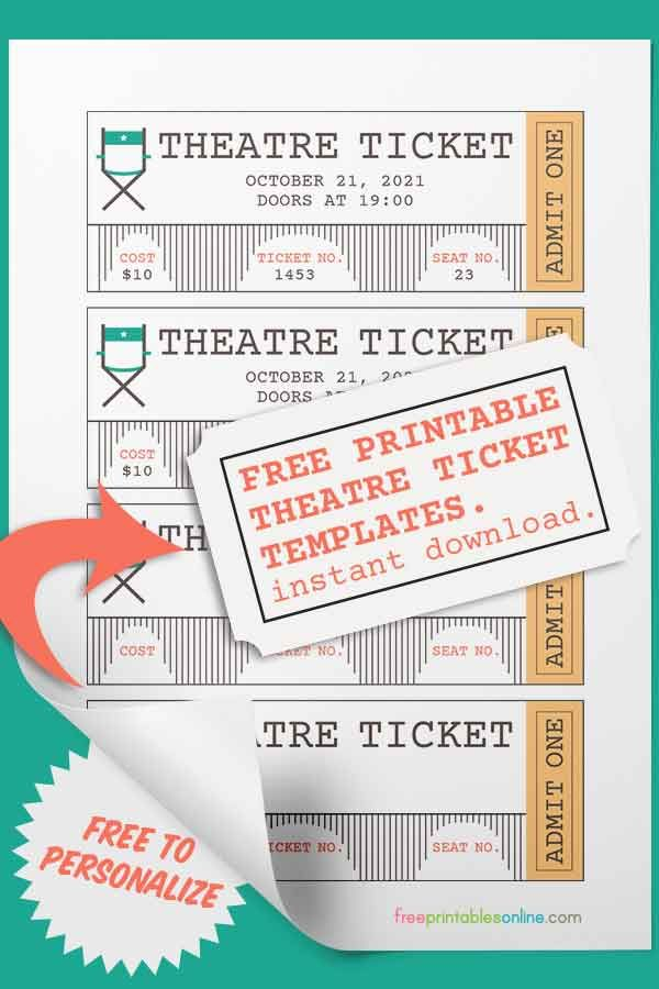 Theater Ticket Template Free