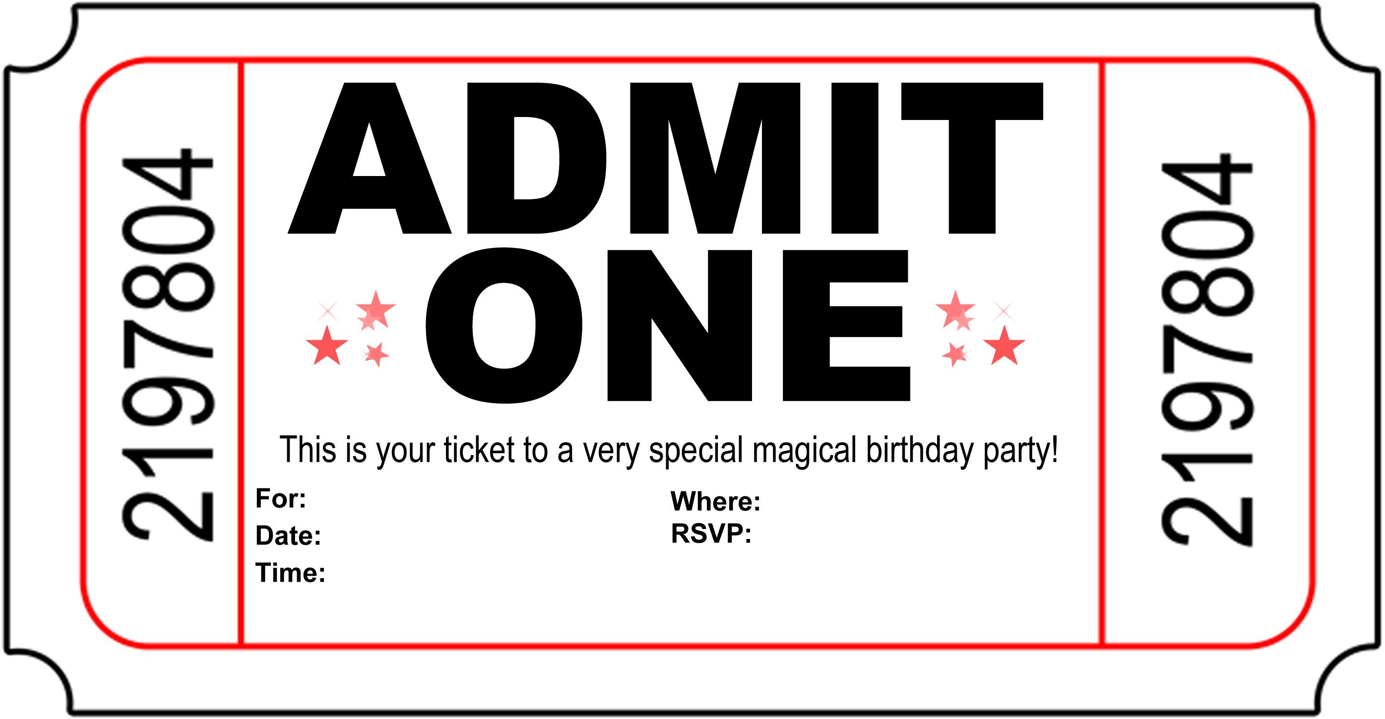 Ticket Invitation Template Free Download
