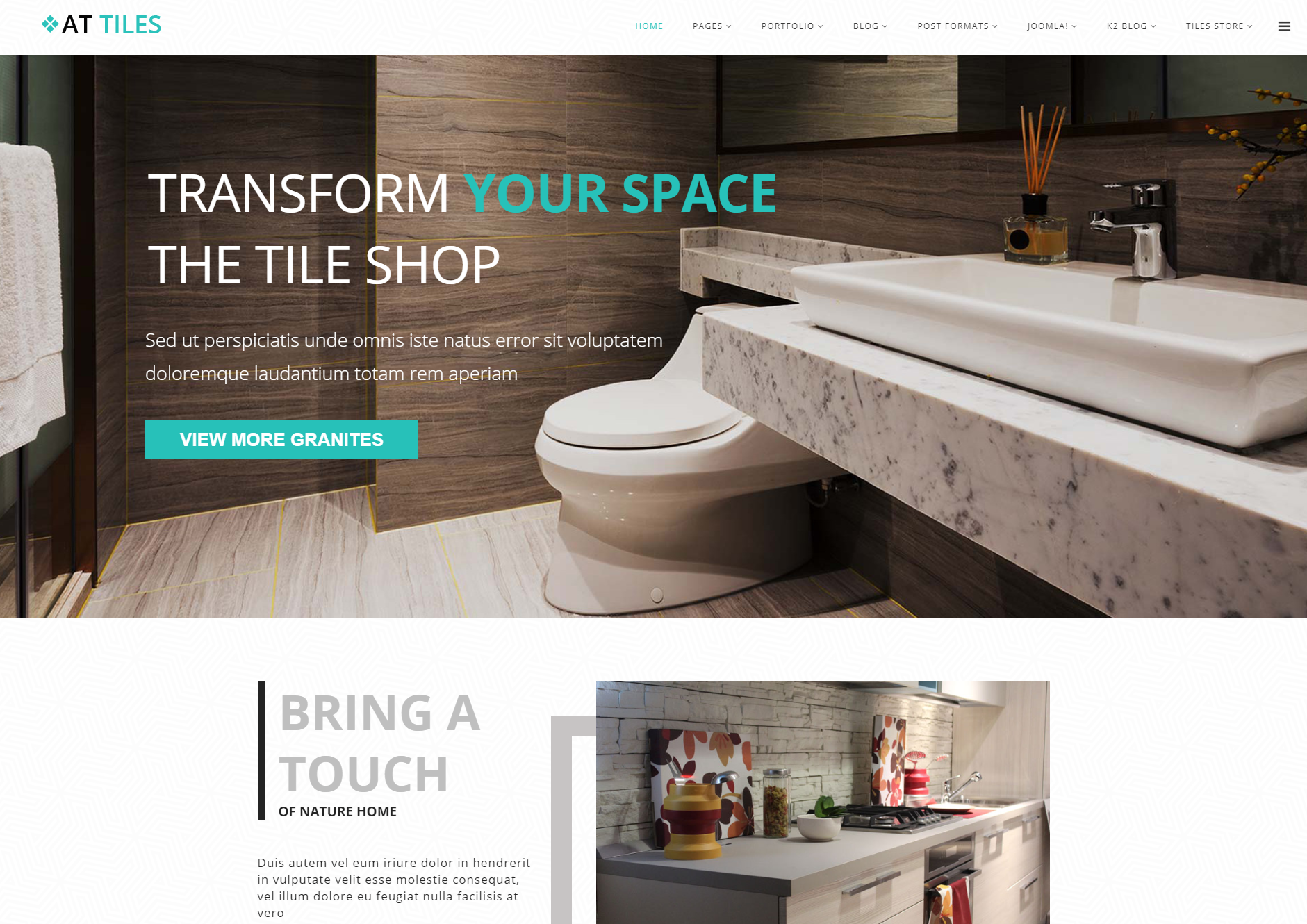 Tiles Website Template Free Download