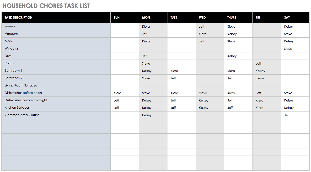 Tracker Project Task List Template Excel