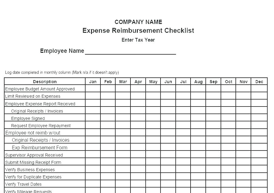 Travel Reimbursement Invoice Template