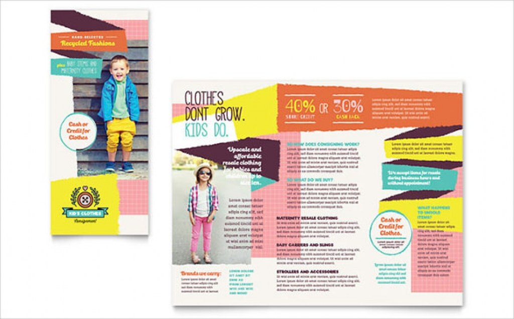 Trifold Blank Brochure Templates Free Download Word