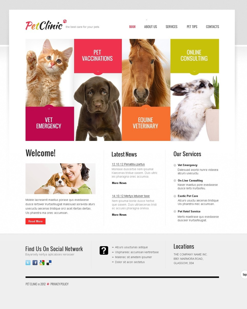 Veterinary Website Templates Free