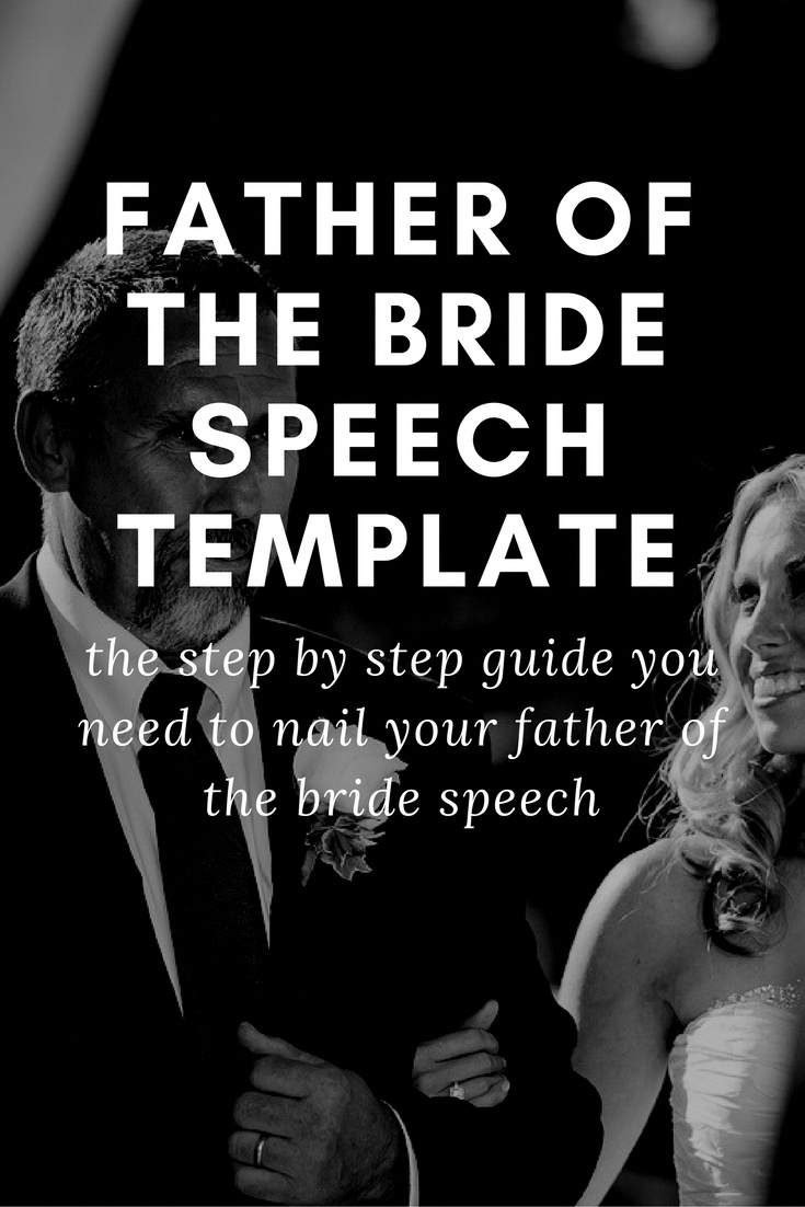 Wedding Father Of The Bride Speech Template