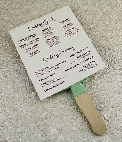Wedding Program Paddle Fan Template