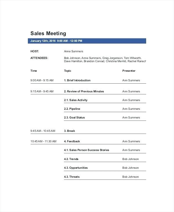 Weekly Sales Call Planner Template