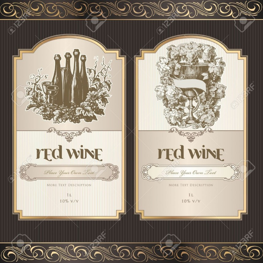 Wine Label Template Word Free