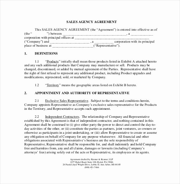 Word Employee Sales Commission Agreement Template