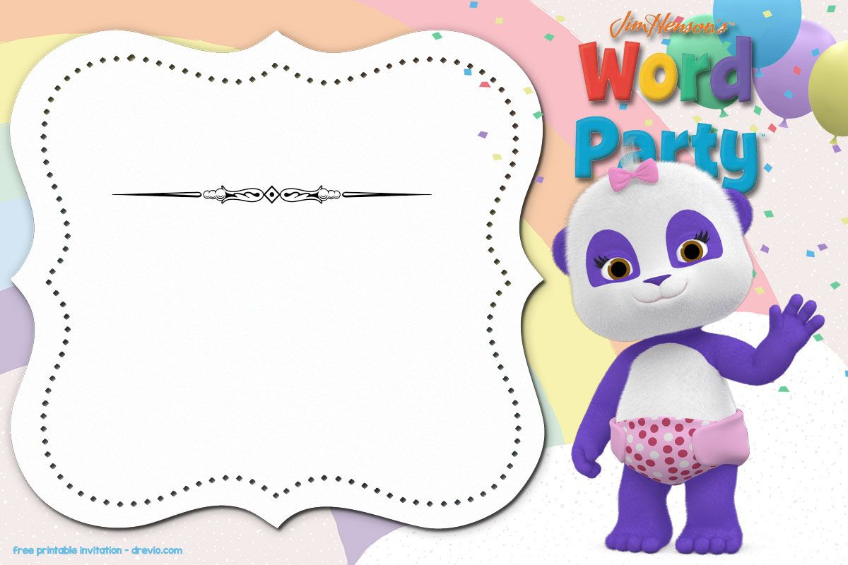 Word Party Invitation Templates Free