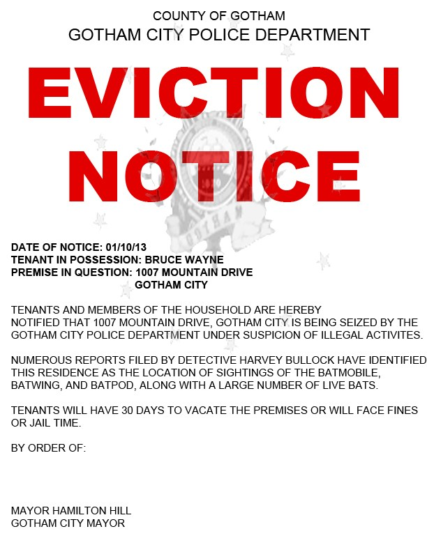 30 Day Eviction Notice Texas Template