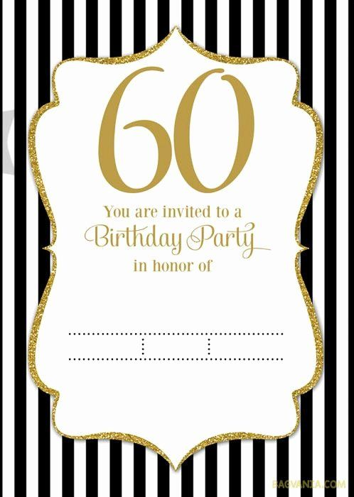 60th Birthday Invitation Templates Free Download