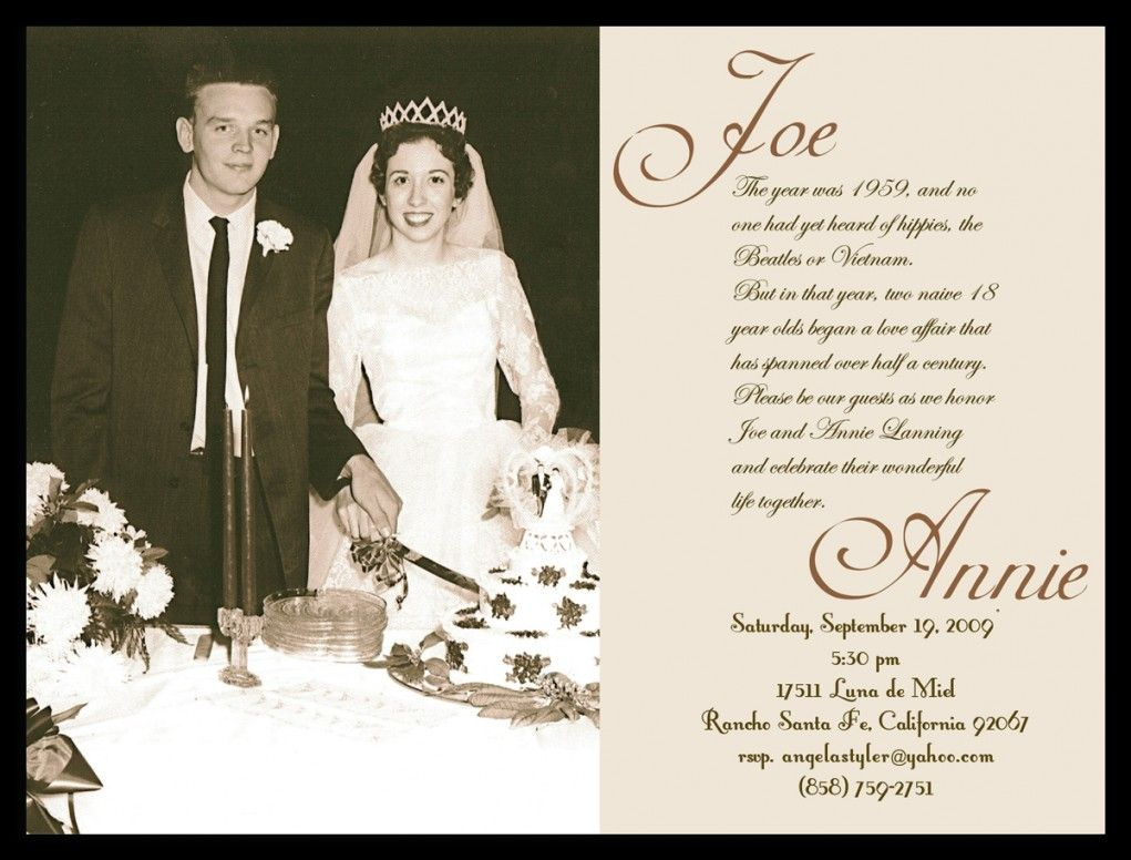 60th Wedding Anniversary Invitation Templates Free