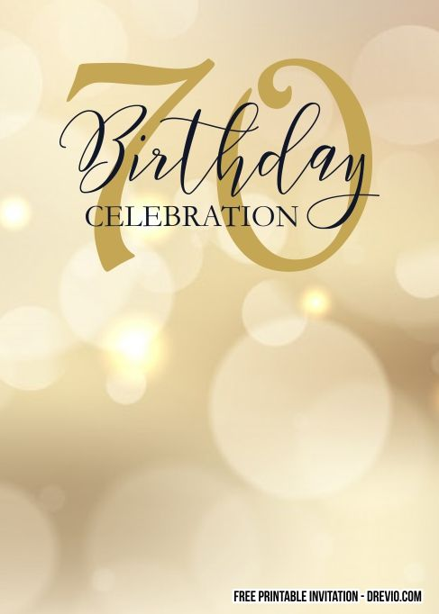 70th Birthday Invitation Templates Free Printable