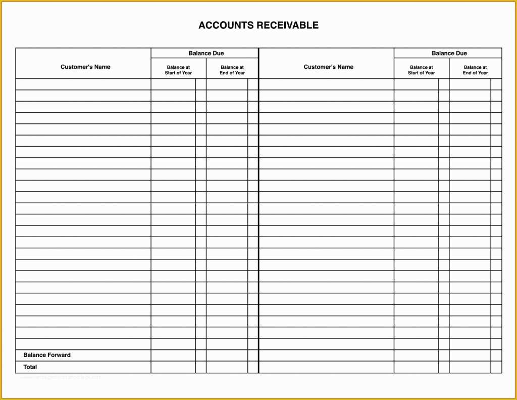 Free Accounts Payable Template Of Account Payable Spreadsheet Lovely Accounts Receivable