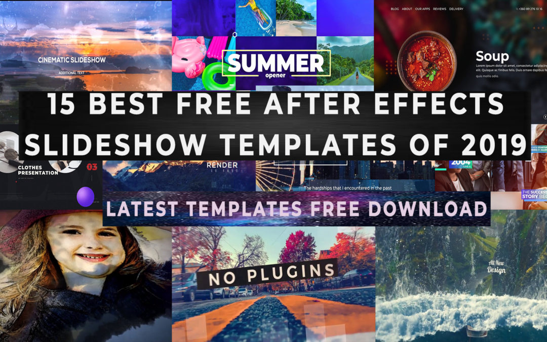Adobe After Effects Slideshow Templates