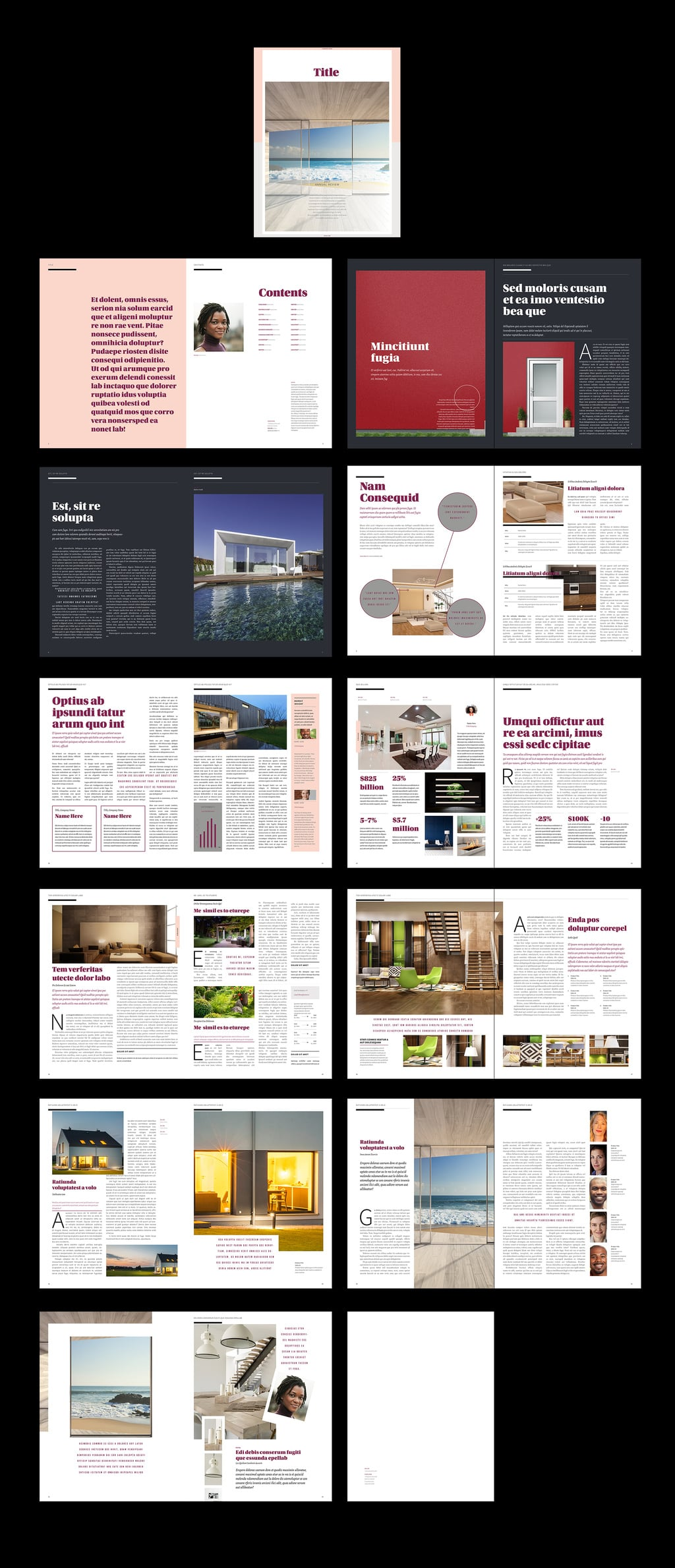 Adobe Indesign Photobook Templates