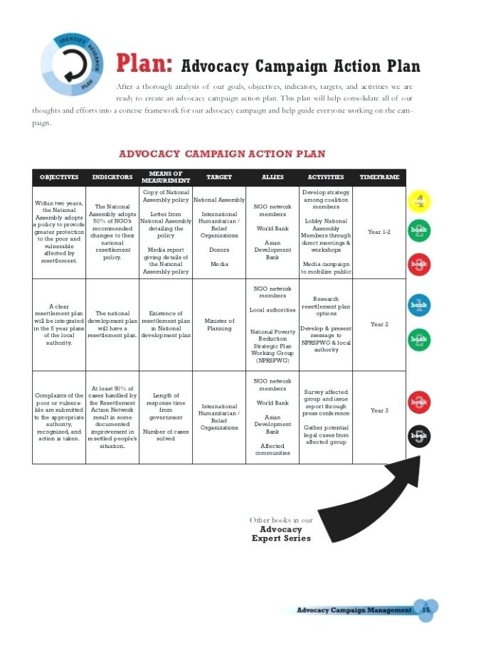 Advocacy Campaign Plan Template