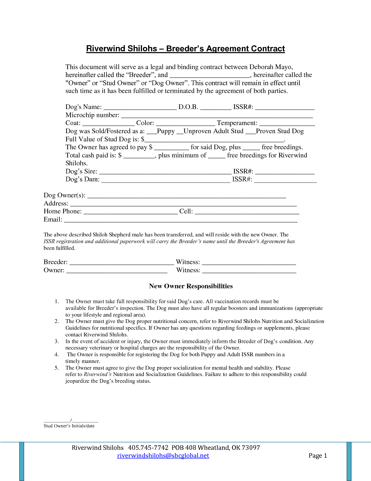 Agreement Legally Binding Contract Template