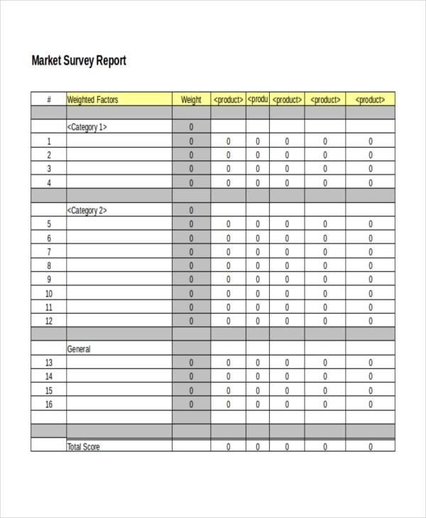 Apartment Market Survey Template