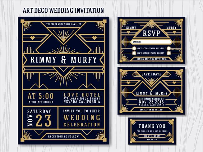 Art Deco Great Gatsby Invitation Template