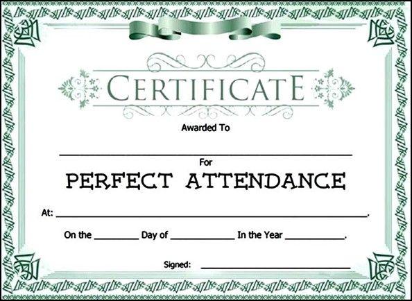 Attendance Award Certificate Templates