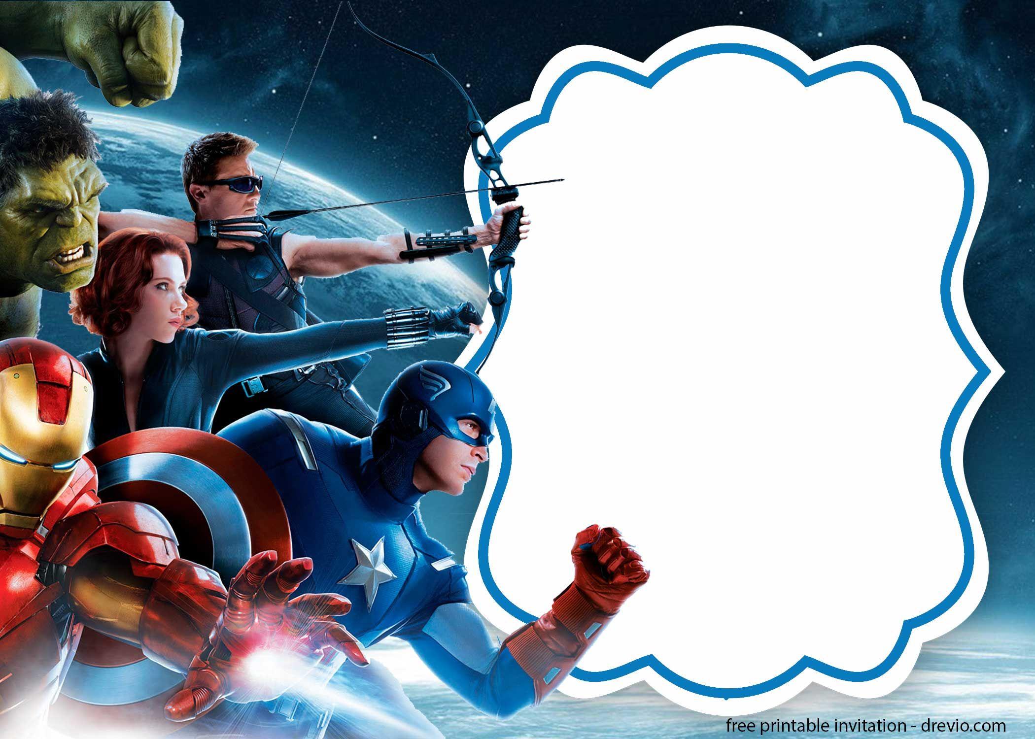 Avengers Birthday Invitations Template