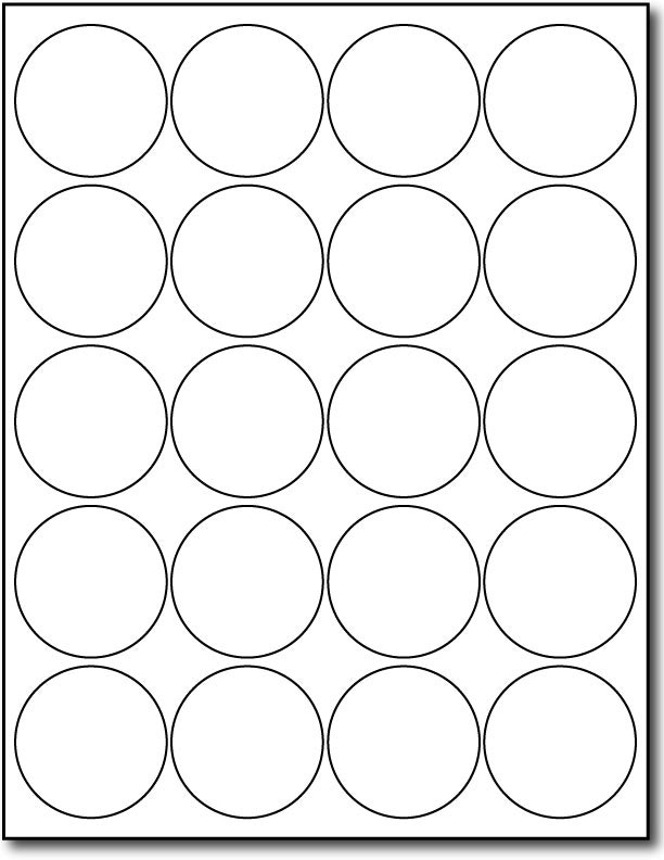 Avery 2 Inch Round Labels Template