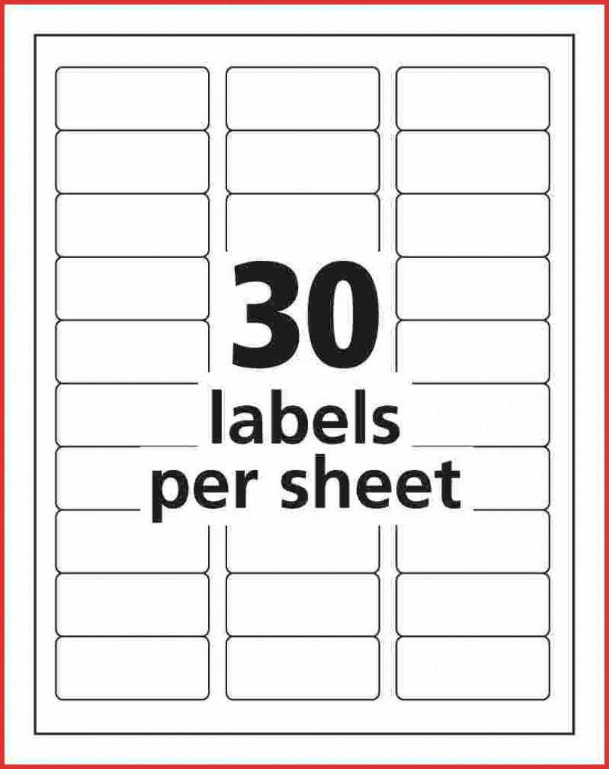 Avery 5160 Labels Template