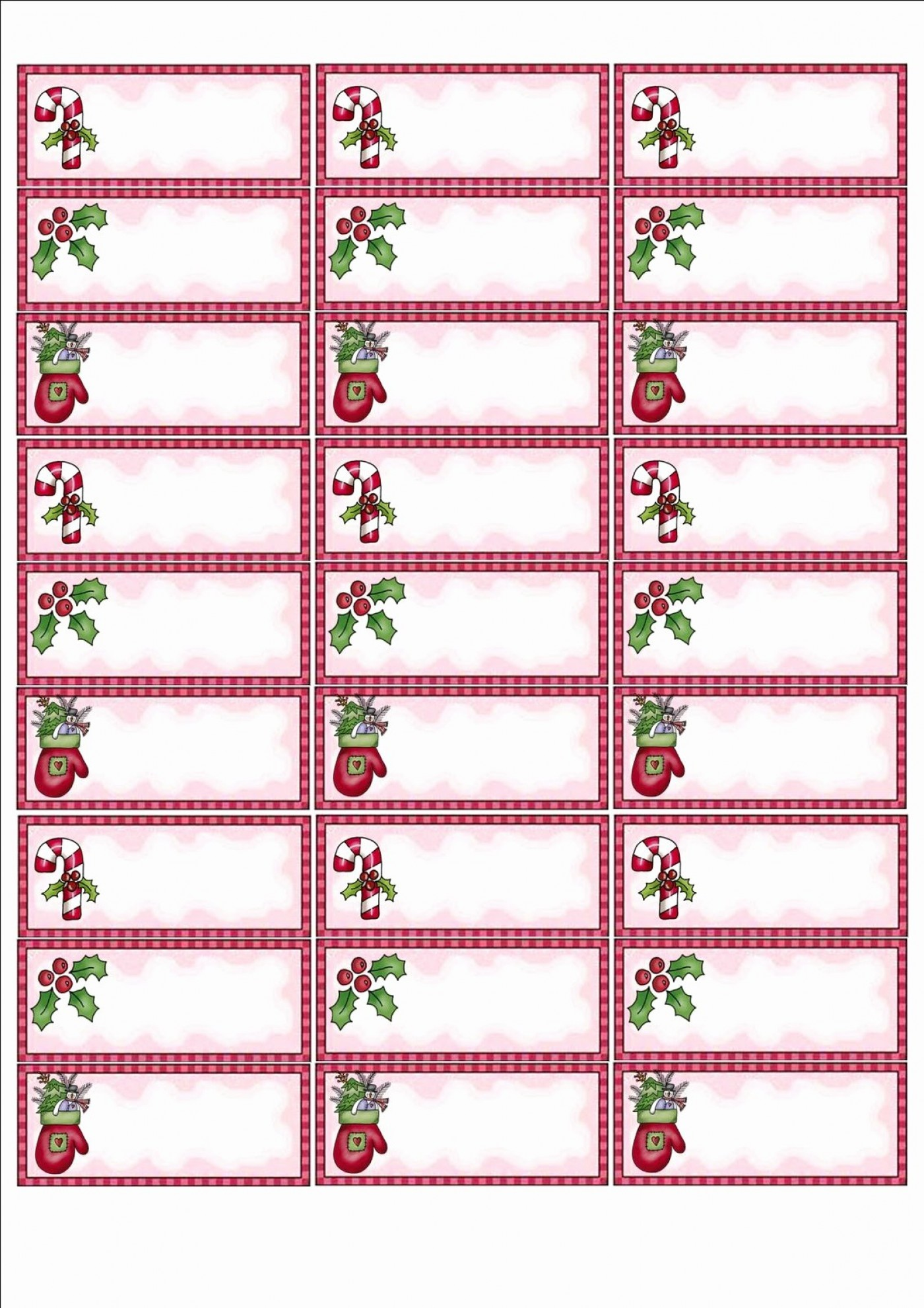 Avery Free Christmas Labels Templates