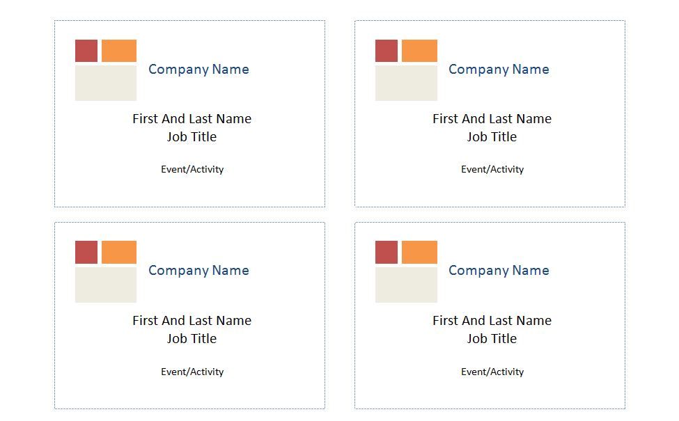 Avery Name Badge Template 5395