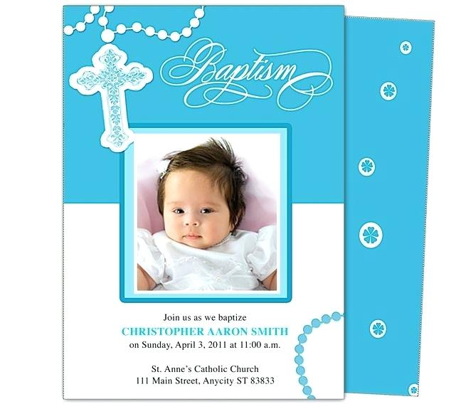 Baby Boy Christening Invitation Template Free