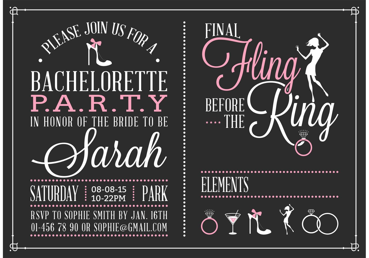 Bachelorette Party Invitation Template Free
