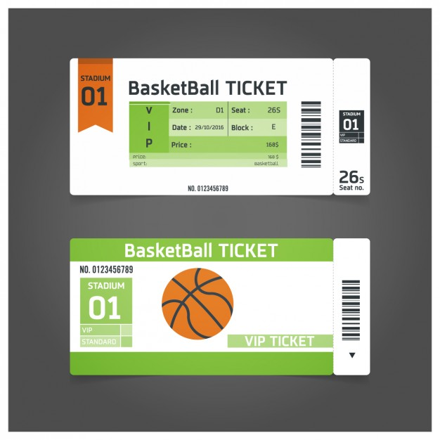 Basketball Ticket Template Free Download
