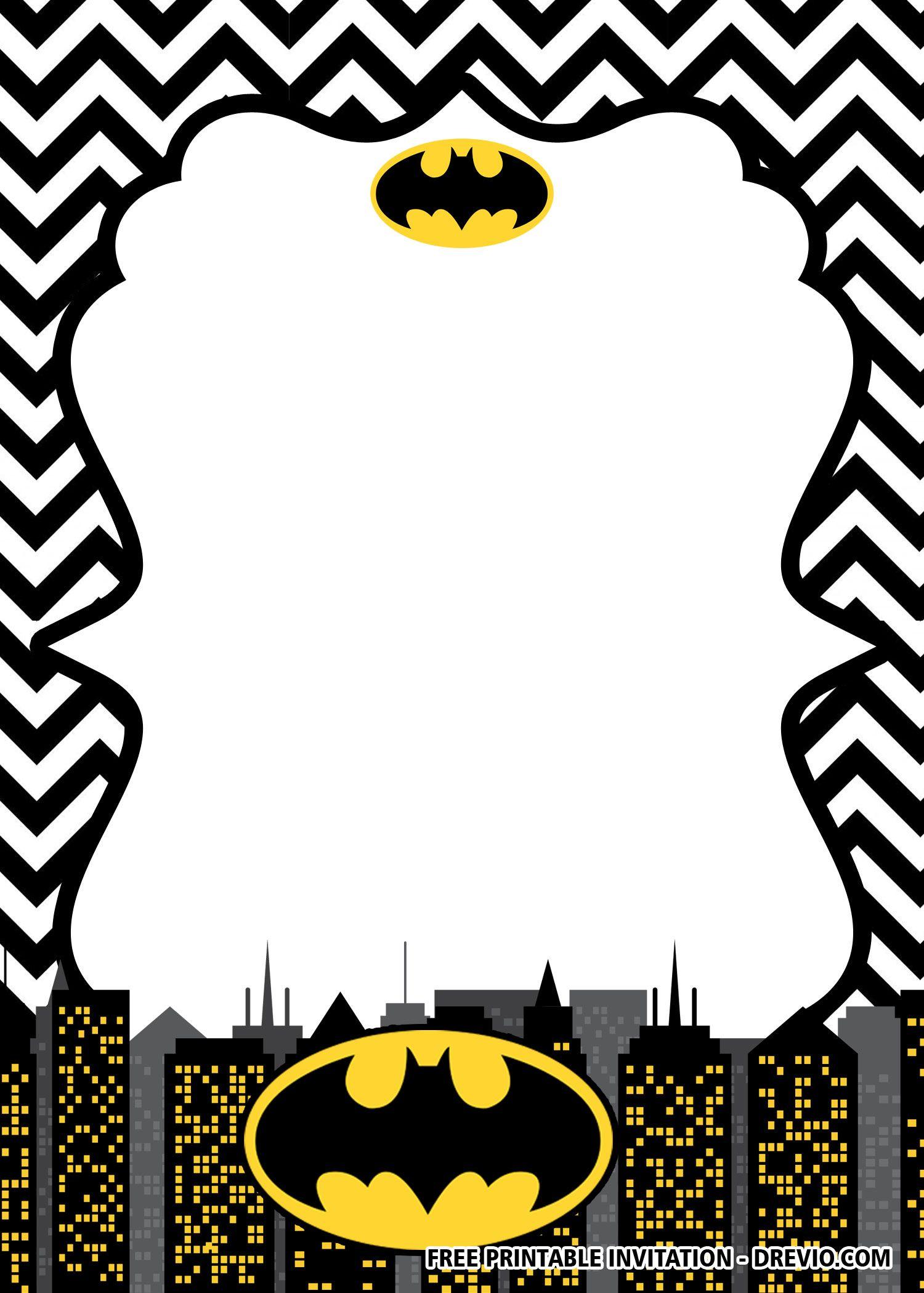 Batman Birthday Invitations Templates
