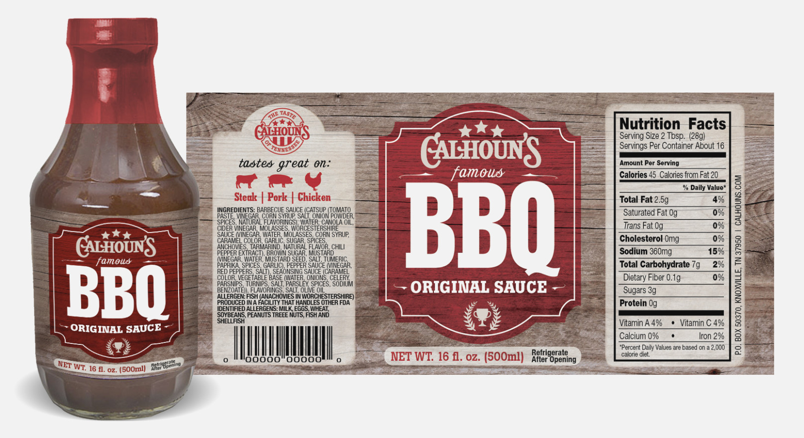 Bbq Sauce Label Template