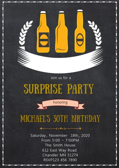 Birthday Beer Invitation Template