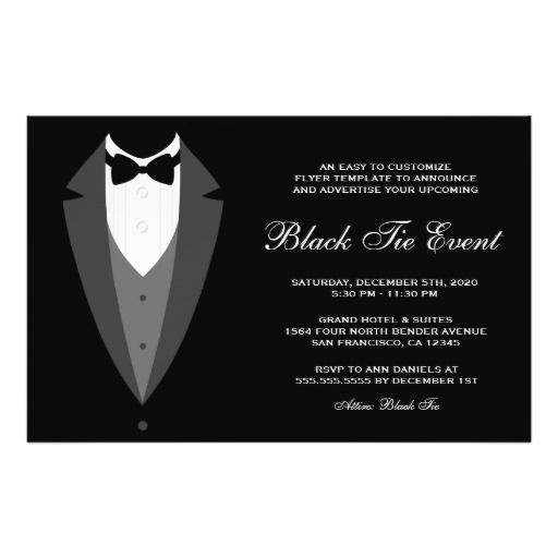 Black Tie Event Flyer Template