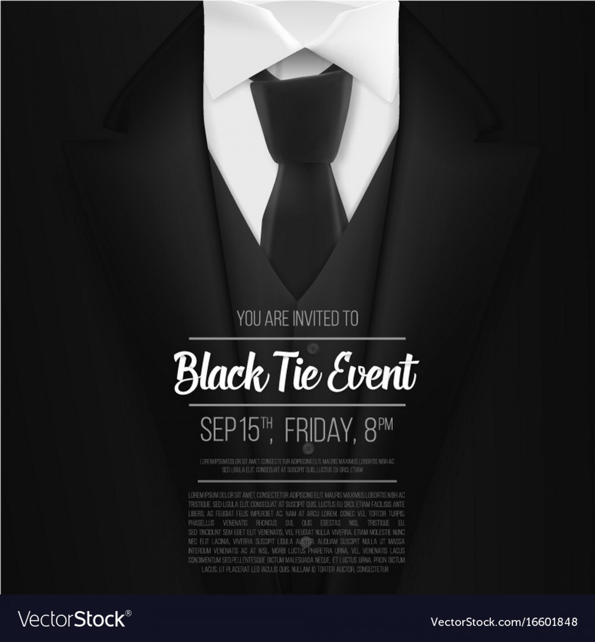 Black Tie Event Invitation Free Template