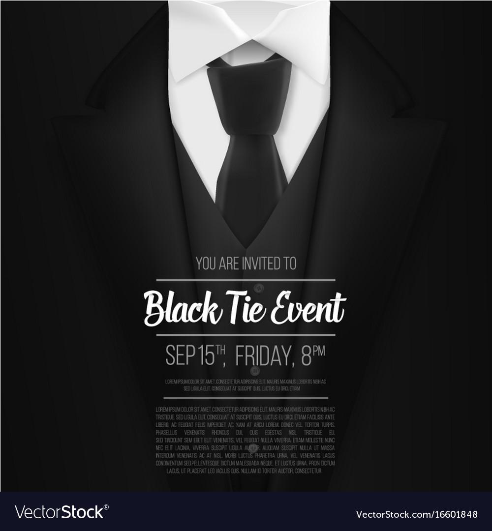 Black Tie Invitation Template