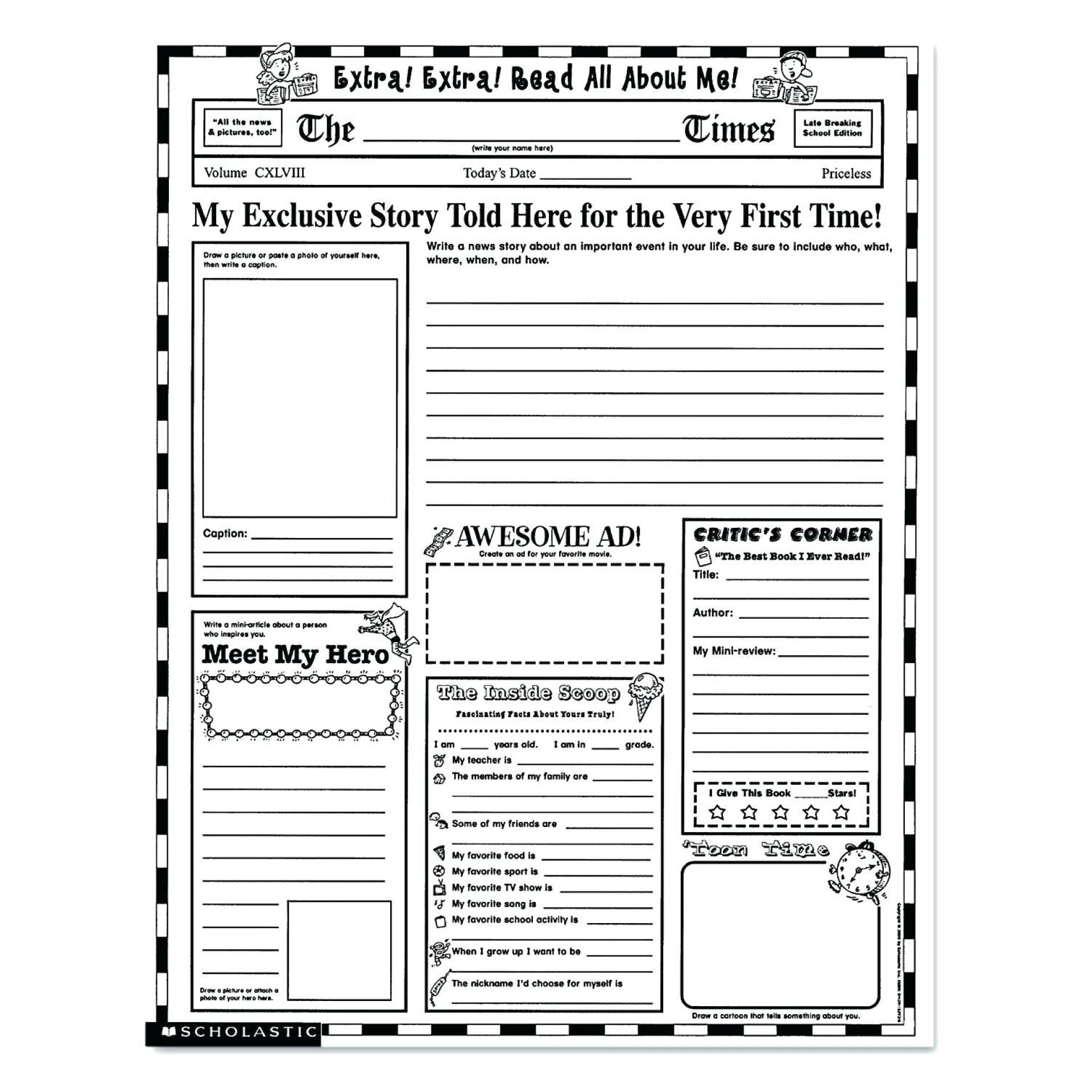 Blank Free Printable Newsletter Templates