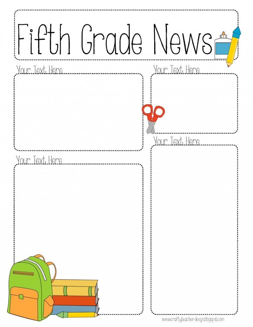 Blank Newsletter Templates For Teachers