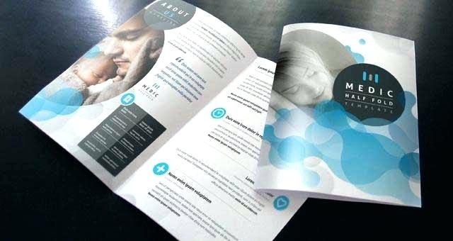 Blank Two Fold Brochure Template