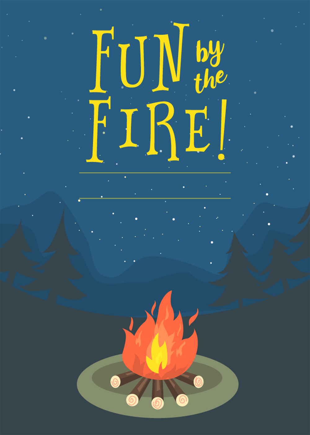 Bonfire Invitation Template Free