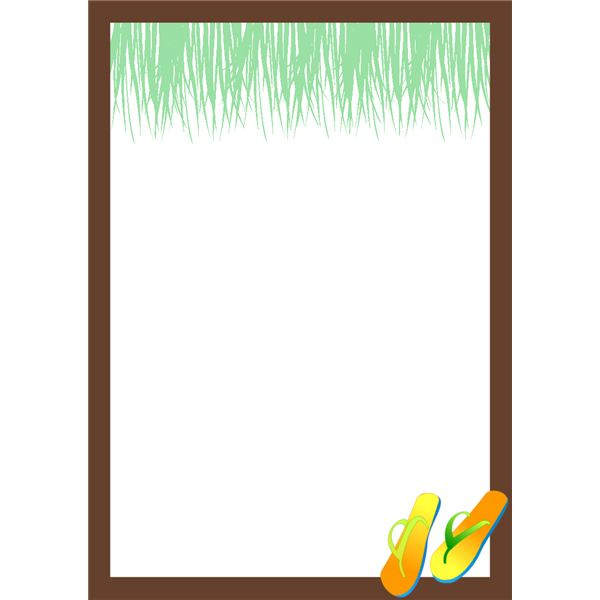 Border Hawaiian Invitation Template