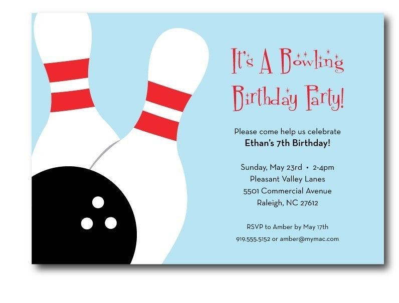 Bowling Birthday Invitations Templates Free