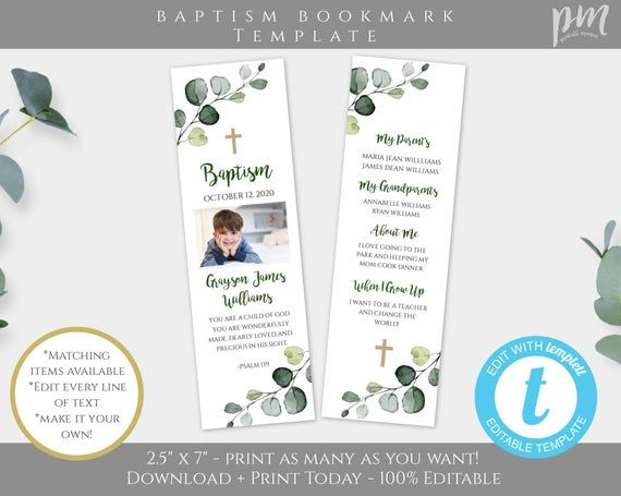 Boy Baptism Banner Template