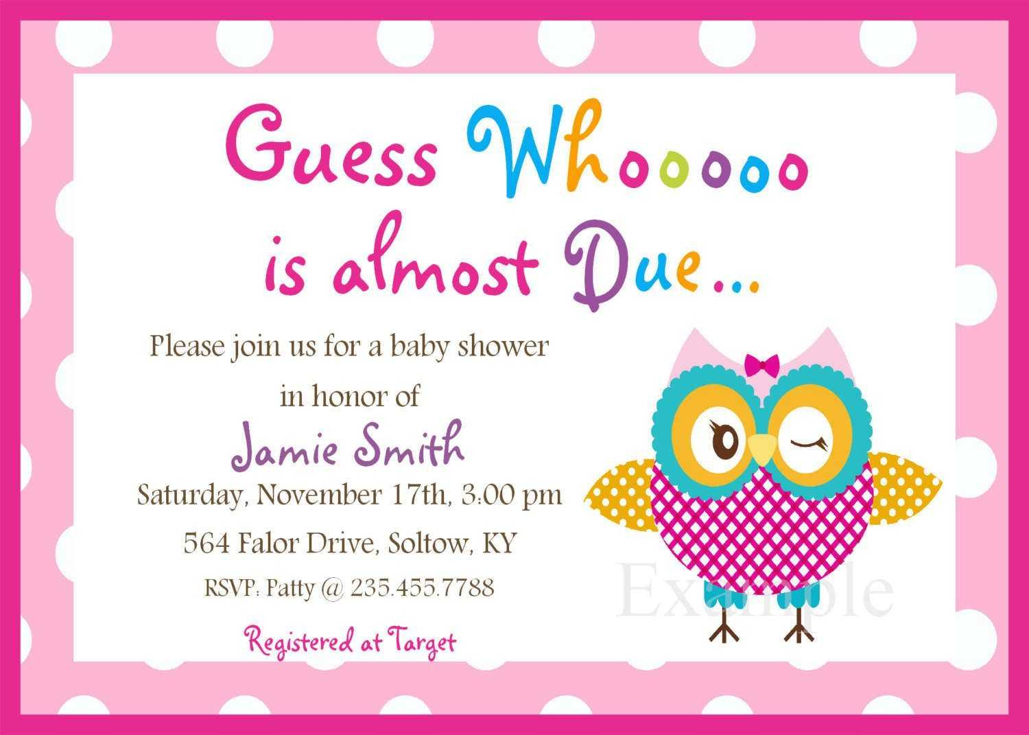Boy Free Baby Shower Invitations Templates Pdf