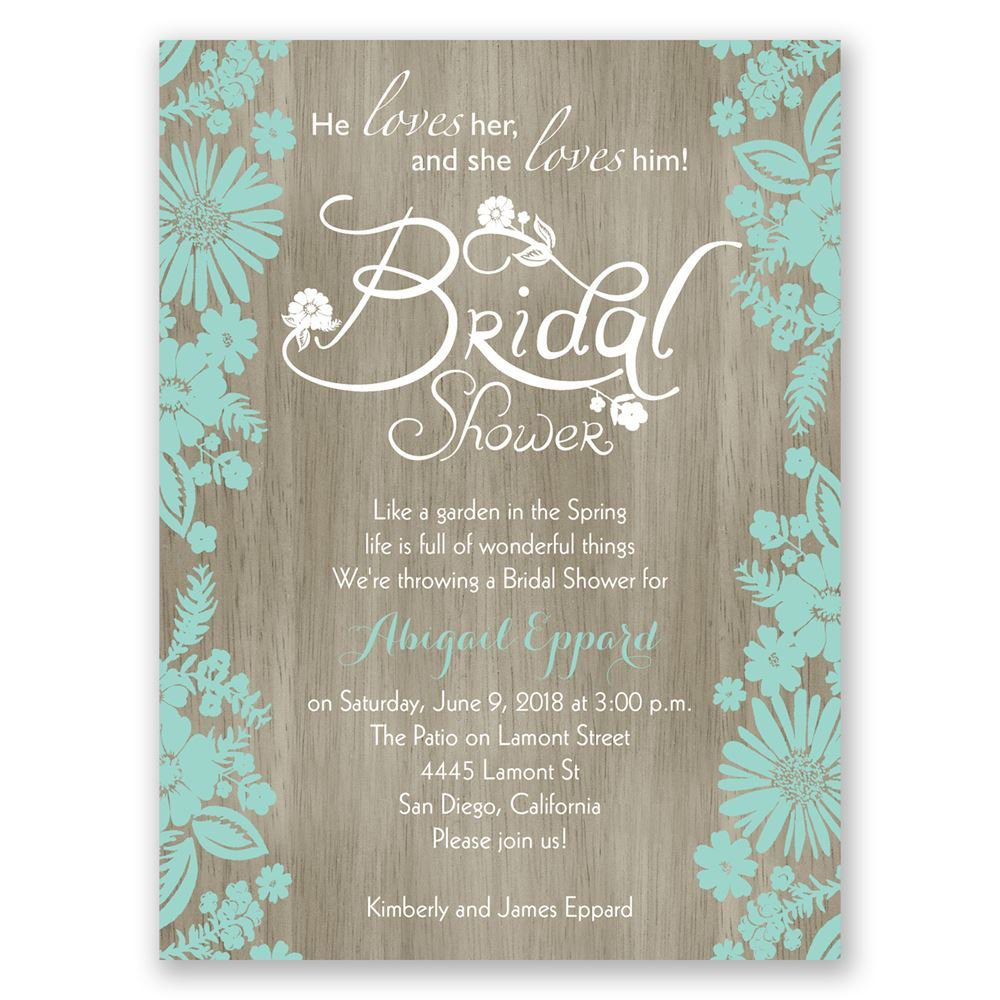 Bridal Shower Invitations Blank Templates