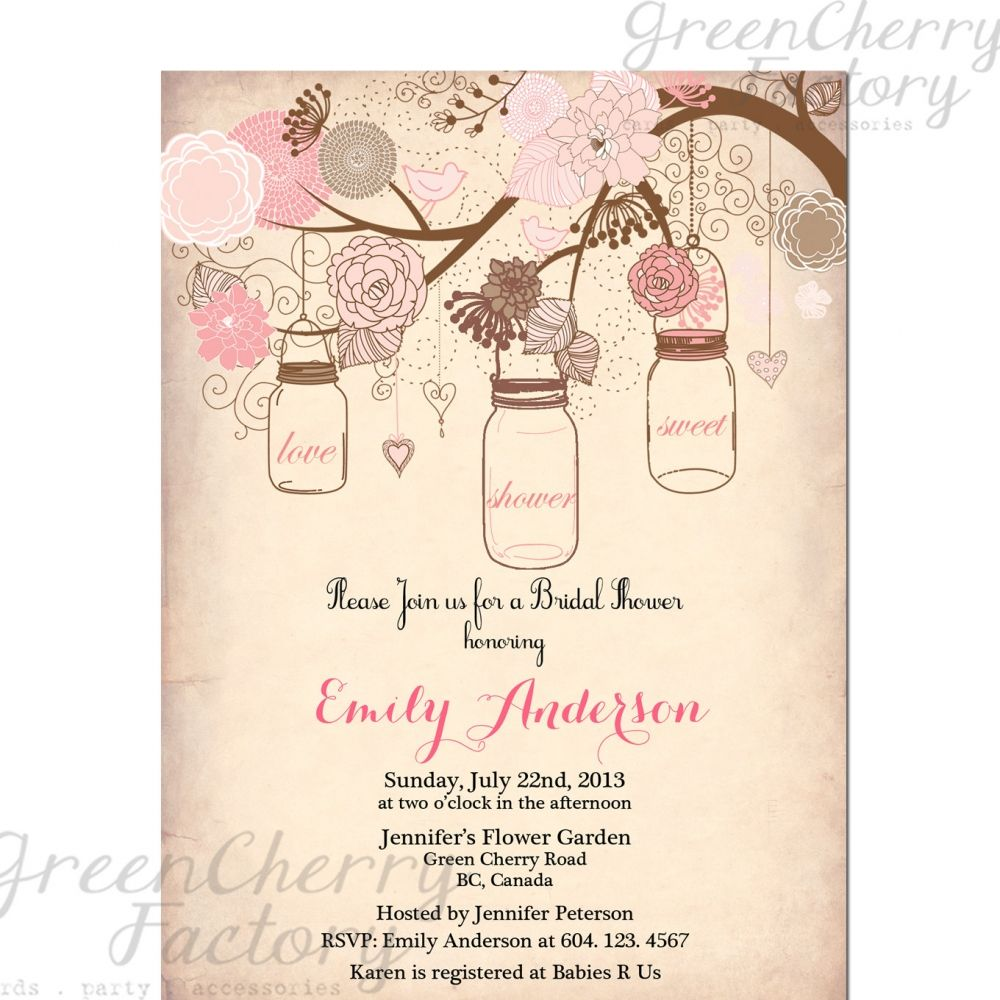 Bridal Shower Invitations Templates Free